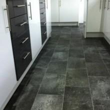 Black granite tile vinyl flooring