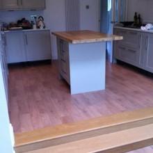 Wood block cushion floor